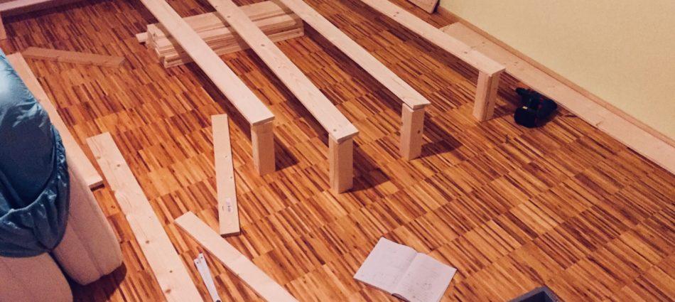 Challenge accepted: Bett bauen